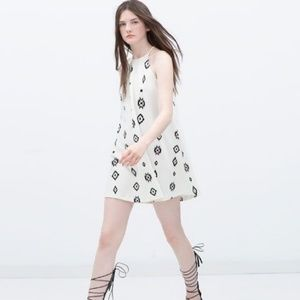 Zara Aztec Halter Dress